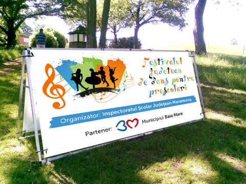 banner festivalul judetean de dans maramures